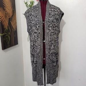 CROFT & BARROW marled knitted cardigan sweater 1X